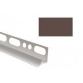 Угол для кафеля коричневый внутренний 10х2500мм