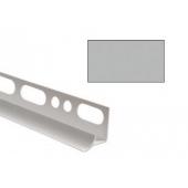 Угол для кафеля светло-серый внутренний 8х2500мм