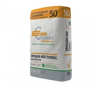 Цемент Евроцемент М400 Д20 ЦЕМ II/А-Ш 32,5 50 кг