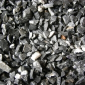 Чёрная мраморная крошка фр.5-10 и 10-20мм