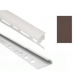 Угол для кафеля коричневый наружный 8х2500мм