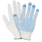 Перчатки трикотажные с ПВХ (точки) 4 нити